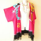 Pink Gecko Plus Size Cardigan Duster Jacket Kimono Cover up - 2X, 3X, 4X & 5X