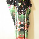 Floral Plus Size Batwing Caftan Kaftan Tunic Hippy Maxi Dress - XL, 1X, 2X & 3X