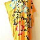 Orange Premium Batik Kaftan Caftan Batwing Maternity Dolman Maxi Dress 2X to 5X