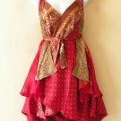 """P150 Reversible Vintage Silk Magic 24"""" Wrap Skirt Halter Tube Dress + Bonus DVD"""