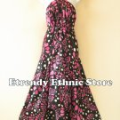 2D112 - Pink Versatile Silk Multi Wear Scarf Women Maxi Dress, Skirt, Maternity