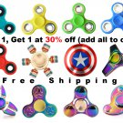 USA Stock Classic, Ship Wheel, Rainbow, Captain America, Glow Fidget Spinner