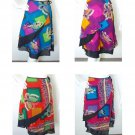 Women Bohemian Boho Pleasant Print 2 Layered Wrap Around Skirt