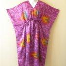 K19 Women Shimmery Silk Kaftan Batwing Dolman Empire Dress - M to 2X