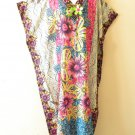 EL3 Kaftan Digital Printed Viscose Batwing Dolman Empire Maxi Tunic - XL 1X & 2X