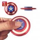 6 pcs of Captain America Shield Titanium Hand Fidget Spinner USA Stock