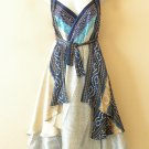 "M485 Reversible Vintage Silk Women 30"" Length Wrap Skirt Halter Tube Dress + DVD"