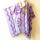 KB27 Swirl Plus Women Batik Kaftan Rayon Poncho Dolman Tunic Blouse - 1X to 4X