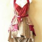 "B63 Reversible Vintage Silk Magic 20"" Mini Wrap Skirt Halter Tube Top + DVD"