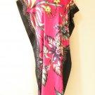 KD61 Pink Floral Women Kaftan Caftan Batwing Maternity Dolman Maxi Dress L to 2X