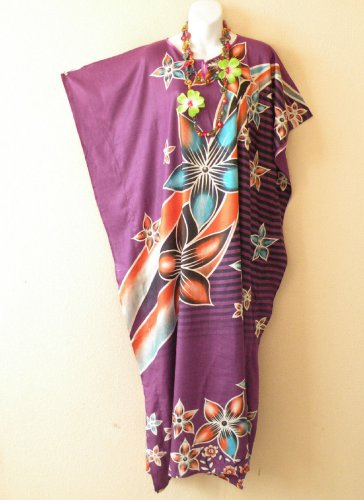 KD110 Batik Women Kaftan Caftan Hippie Tunic Abaya Boho Maxi Gown Dress L to 1X