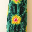 Tie Dye Green Beachwear Wrap Around Sarong Pareo Women Dress or Coverup Skirt