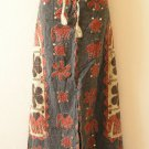 G138 Gothic Hippie Gypsy Bohemian Renaissance Heavily Embroidered Long Skirt - L
