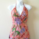 Batik Women Summer Sexy Floral Embroidered Halter Top /Blouse - XS & S