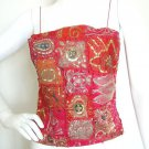 Boho Hippie Gypsy Bohemian Embroidered Patchwork Sexy Sequin Blouse Top - XS & S