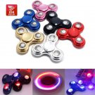 USA Seller Triangle Flashing LED Lights Torque Fidget Spinner Finger Focus Toy