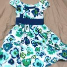 Jillian Jones Sun Dress Blue Green White Floral Mini Sleeveless Size 4