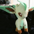 Original Takara Tomy Standing Leafeon Pokemon Plush Toy Doll + Free Cards!