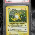 Pokemon Card Raichu 14/102 Base Set Holofoil PSA Graded 8 NM-Mint!