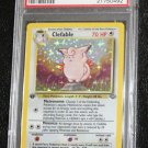Pokemon Card First Edition Clefable 1/64 Jungle Set Holofoil PSA Graded 9 Mint!