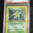 Pokemon Card First Edition Scyther 10/64 Jungle Set Holofoil PSA Graded 9