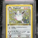 Pokemon Card First Edition Wigglytuff 16/64 Jungle Set Holofoil PSA Graded 9