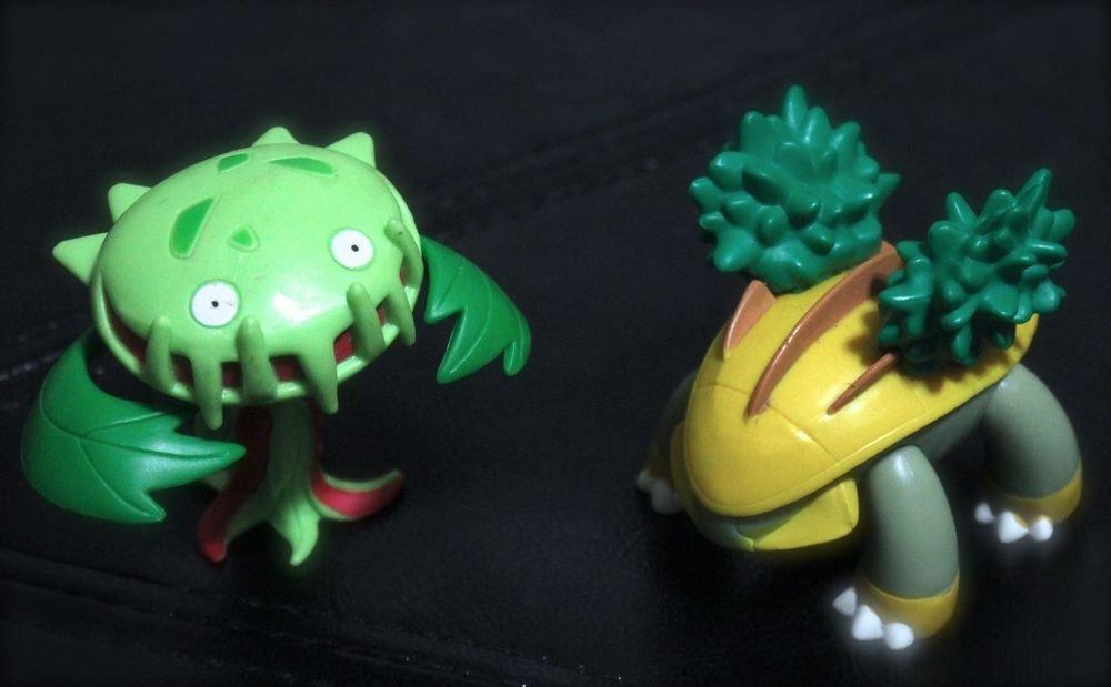 Pokemon Jakks Grotle and Carnivine 3'' Figures Toys Torterra + Free Cards!