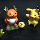 Pokemon Jakks Pikachu & Burger King Raichu 3'' Figures Collectibles +Free Cards!