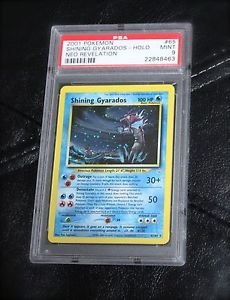 PSA 9 MINT Graded Shining Gyarados 65/64 Neo Revelations Pokemon Card TCG