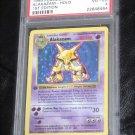 Pokemon Card First Edition Alakazam 1/102 Base Set PSA Graded 4 Very Good-EX!
