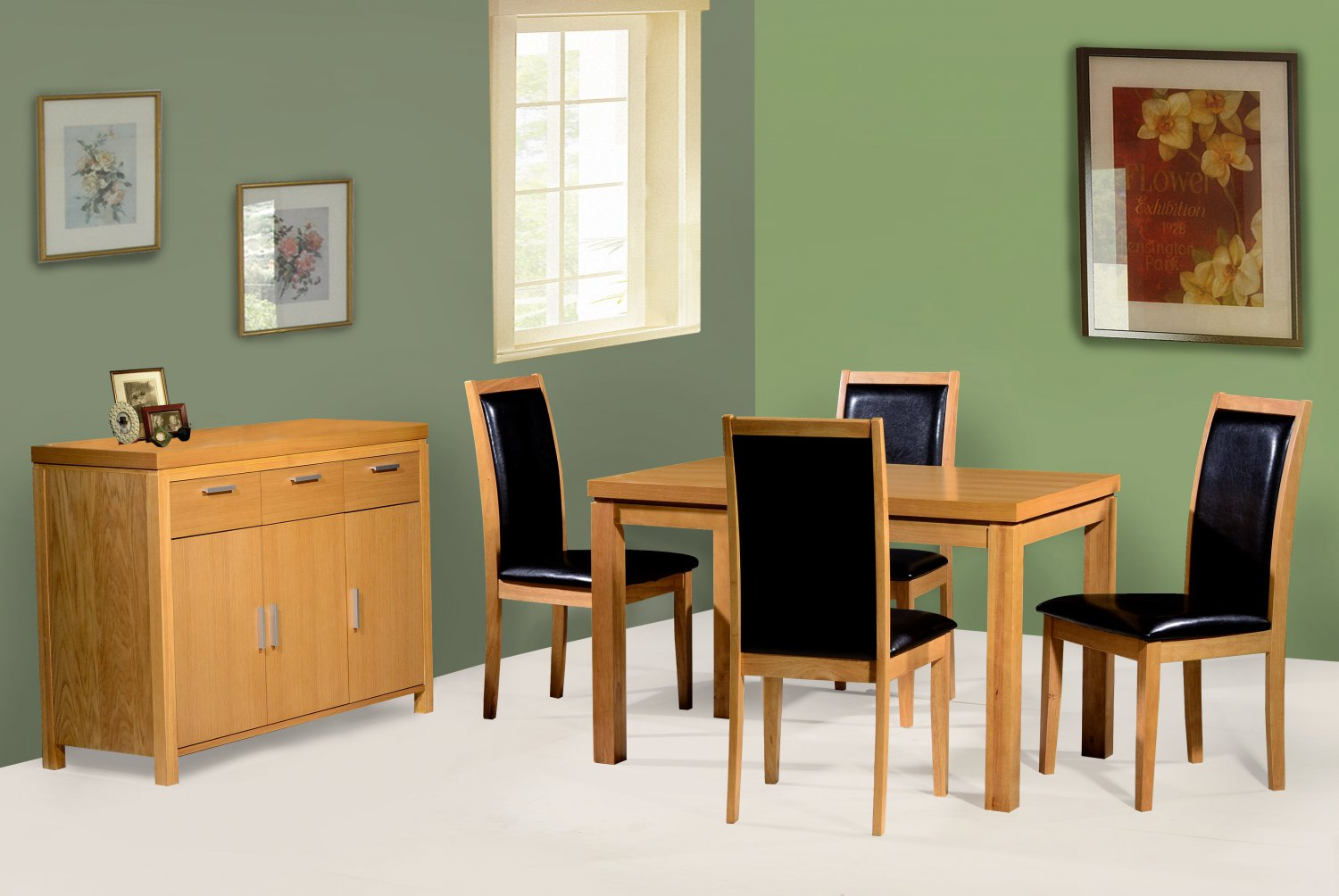 Perth 4 seater dining set