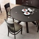 Clifford Glass Top Round Dining Table