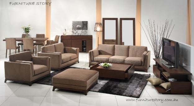 CENI Sofa (1+2+3 seater + Ottomon)