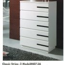 Classic Stripe 5 Drawer Tallboy 407-3A