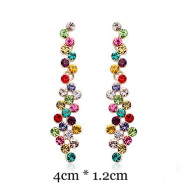 Multi colorfull Swarovski Earrings