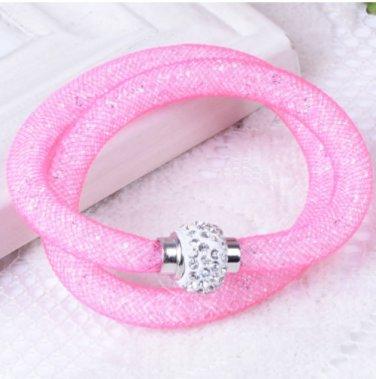 Stardust Bracelet Double Pink