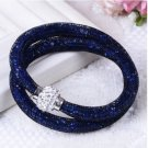 Stardust Bracelet Double Navy Blue