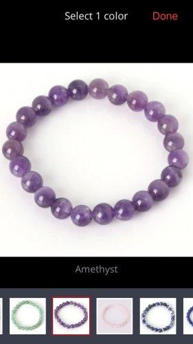 Natural stone bracelet Amethyst