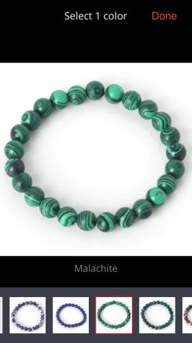 Natural stone bracelet Malachite