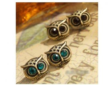 Blue / Yellow Owl earrings