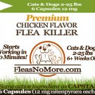 Flea Killer Kills Fleas Cats Dogs Generic CAPSTAR Nitenyram 6 Capsules 12 mg FREE US SHIPPING