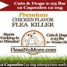 Flea Killer Kills Fleas Cats Dogs Generic CAPSTAR Nitenyram 12 Capsules 12 mg FREE US SHIPPING