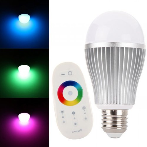3xLED Bulb Light 2.4G WiFi 6w e27 Remote Control 16 Color RGB