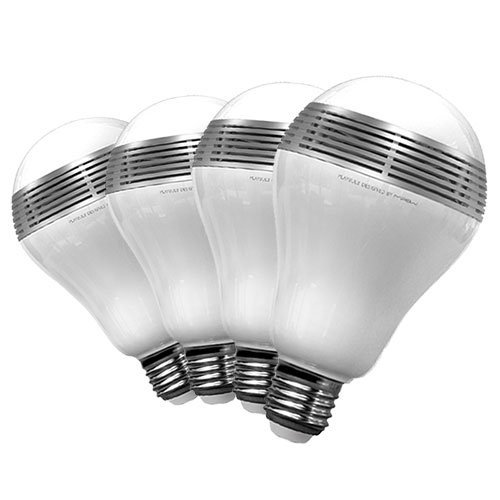 MiPow 4 x PLAYBULB Bluetooth SMART LED Wireless Speaker Light Bulb for use with iPhone and Android