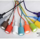 Colorful Vintage E27 Home Ceiling Pendant Lamp Light Bulb Holder with 1M Wire Lot of 30Pcs