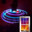 "12 LED Hula Hoop 36"" Aqua & Purple UV blacklight Weighs 12oz + Charger/Battery"