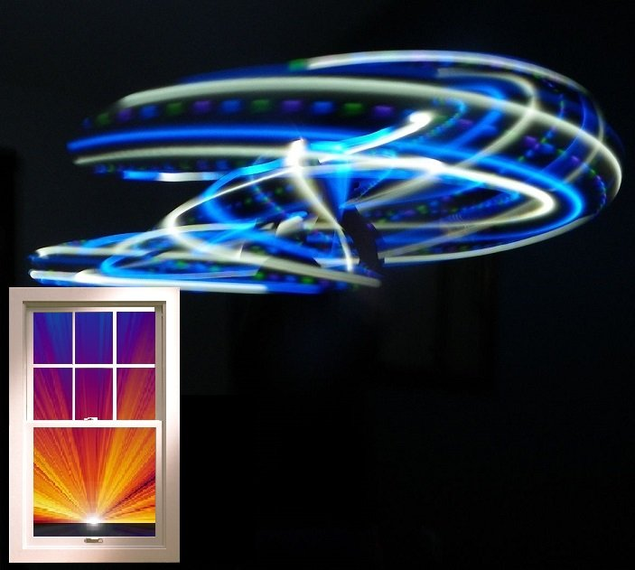 """21 LED Hula Hoop 36"""" Blue and White strobing strobe Weighs 12oz +Charger/Battery"""