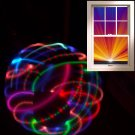 "LED hula hoop 36"" Strobing UV blacklight RGB x 21 LED Color Changing +batt/charg"