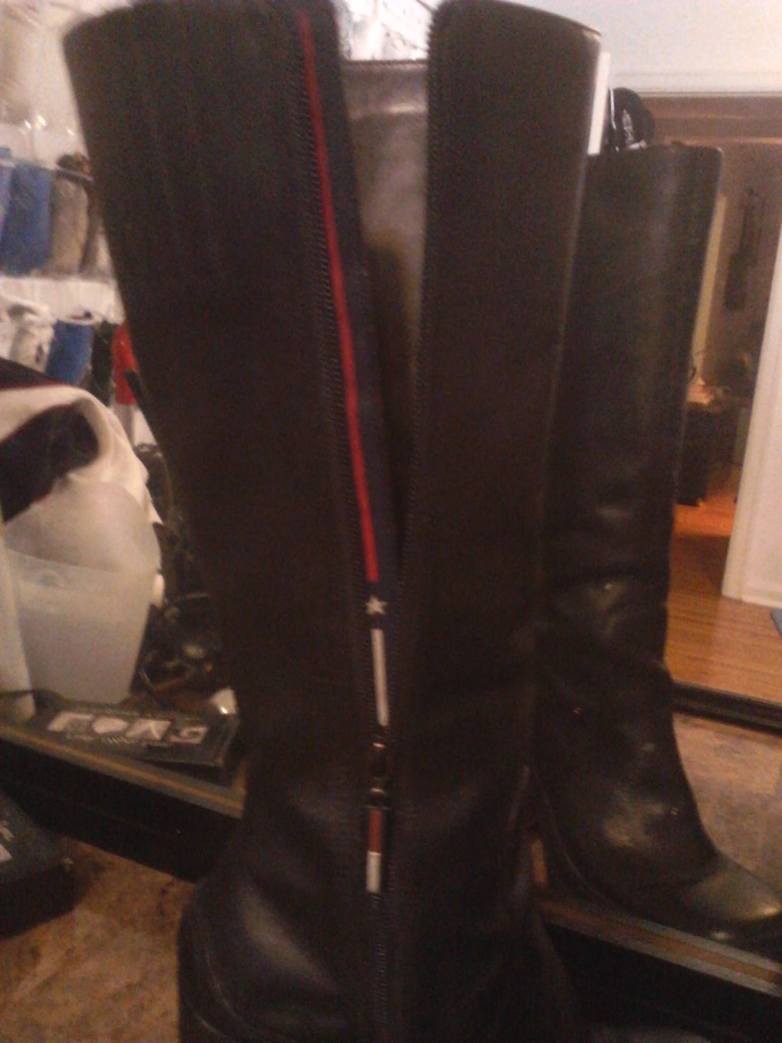 Tommy Hilfiger Black Knee-High Women's Boots Size 7