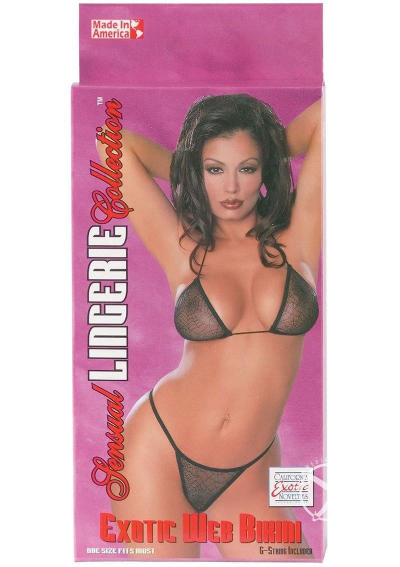 Sensual Lingerie Collection Exotic Web Bikini Black